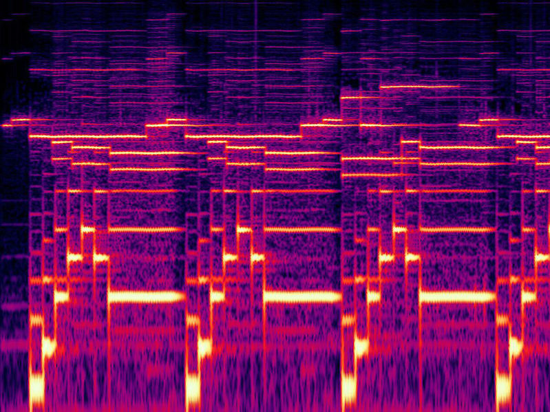 File:The Pattern Emerges - log spectrogram from 50Hz to 3600Hz of the first 20 seconds.jpg